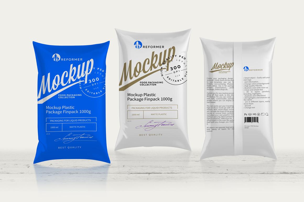 Mockup Package Finn Pack 1000g example image 5