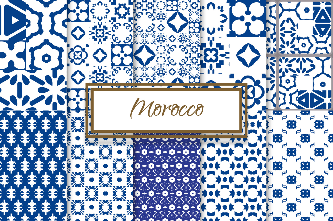 Morocco Blue and White Patterns example image 1