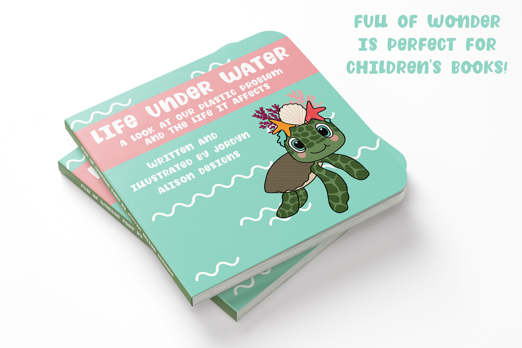 Full of Wonder, Thick Children's Font example image 2