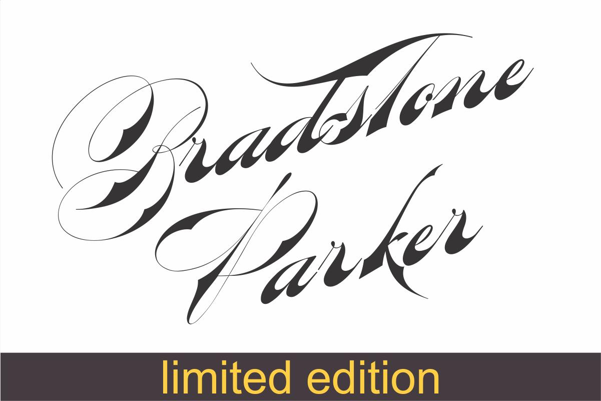 Bradstone-Parker Script  (limited version) example image 1