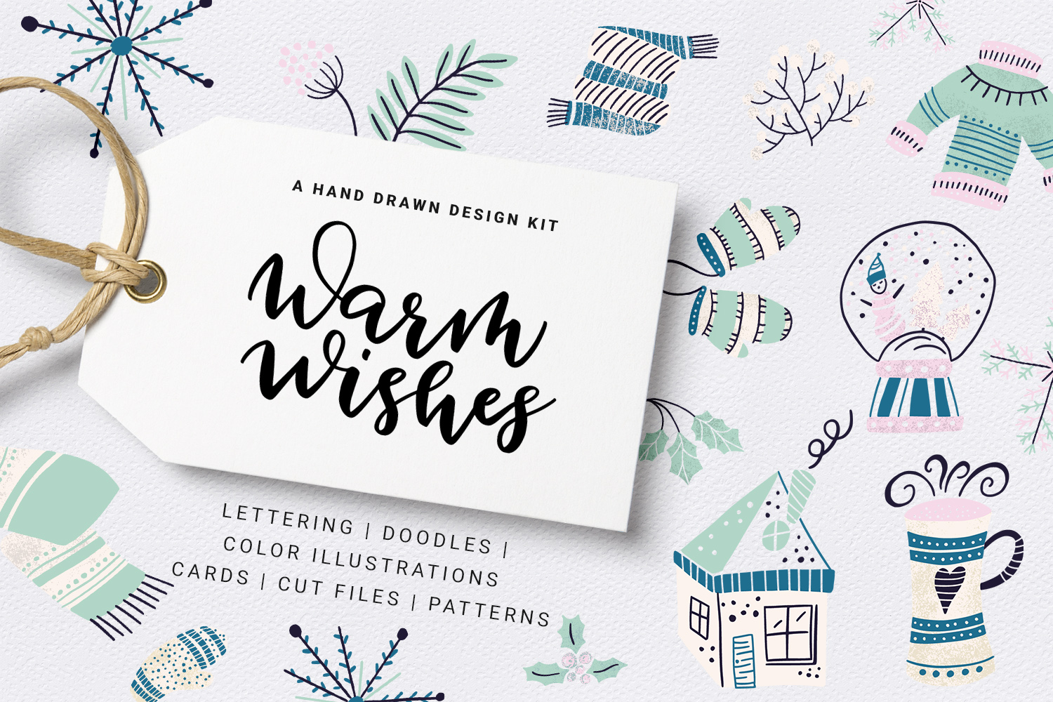 Warm Wishes - winter design kit example image 1