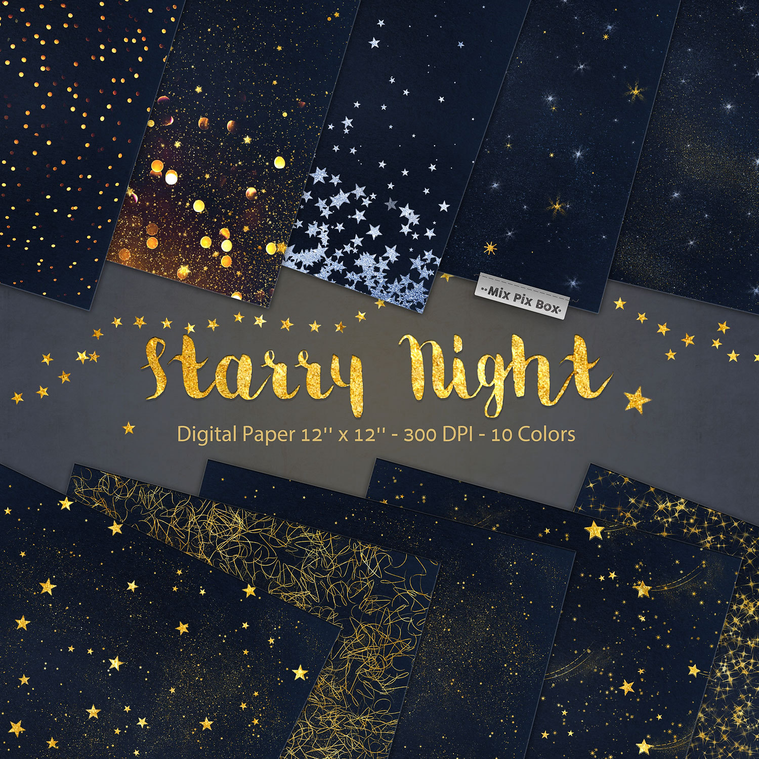 Starry Night Backgrounds example image 1