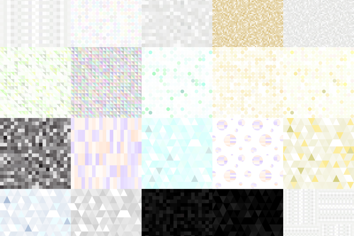 20 Glitter and Geometric patterns example image 3