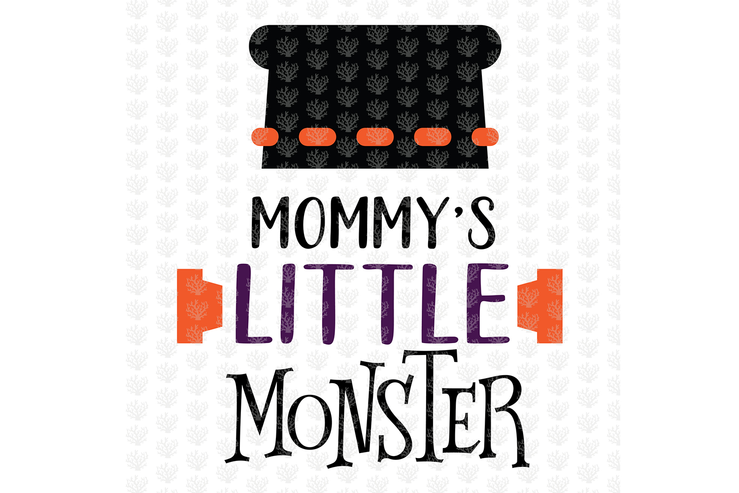 Mommy Little Monster - Halloween SVG EPS DXF PNG Cut File example image 2