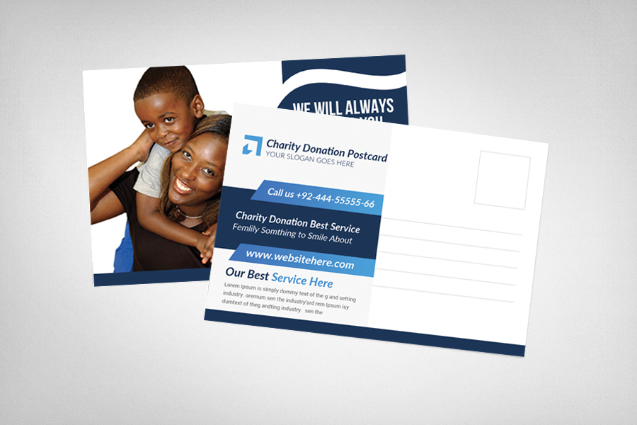 Charity Donation Postcard Template example image 2