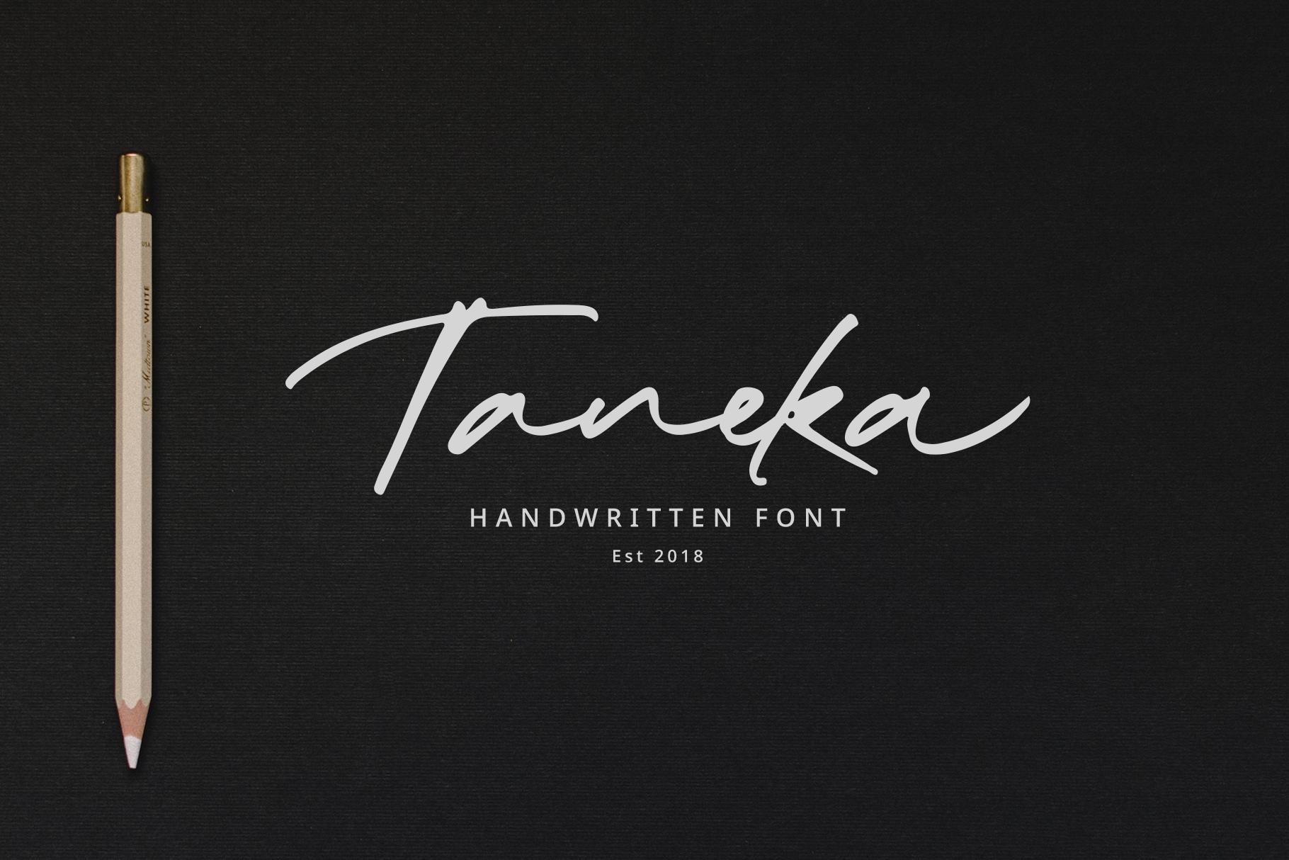 Taneka Handwritten example image 1