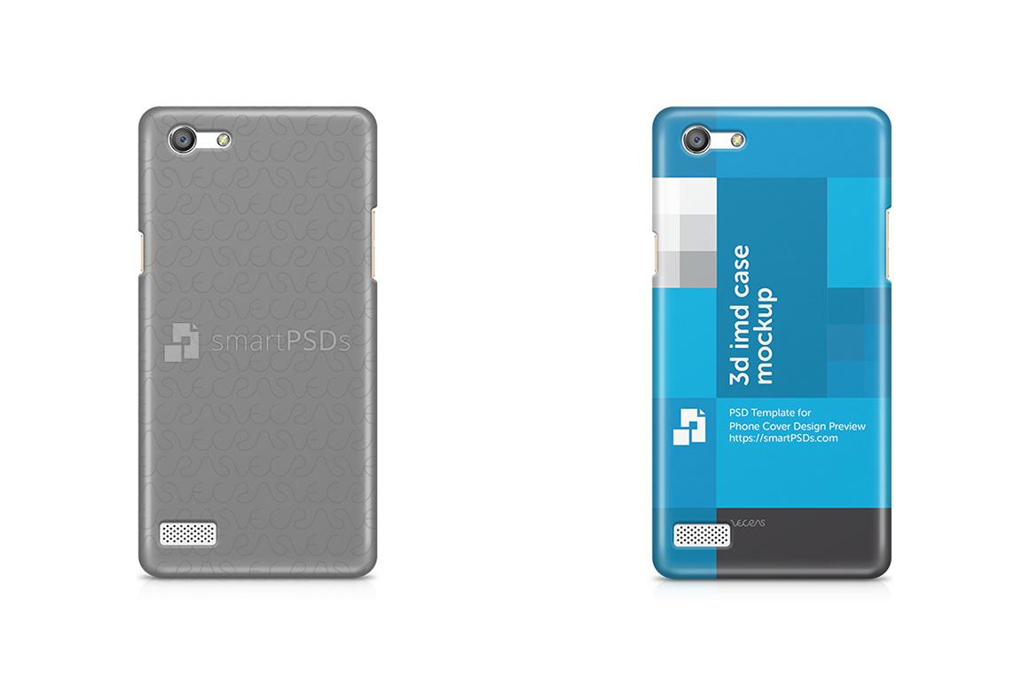 Oppo Neo 7 3d IMD Mobile Case design Mockup 2015 example image 1