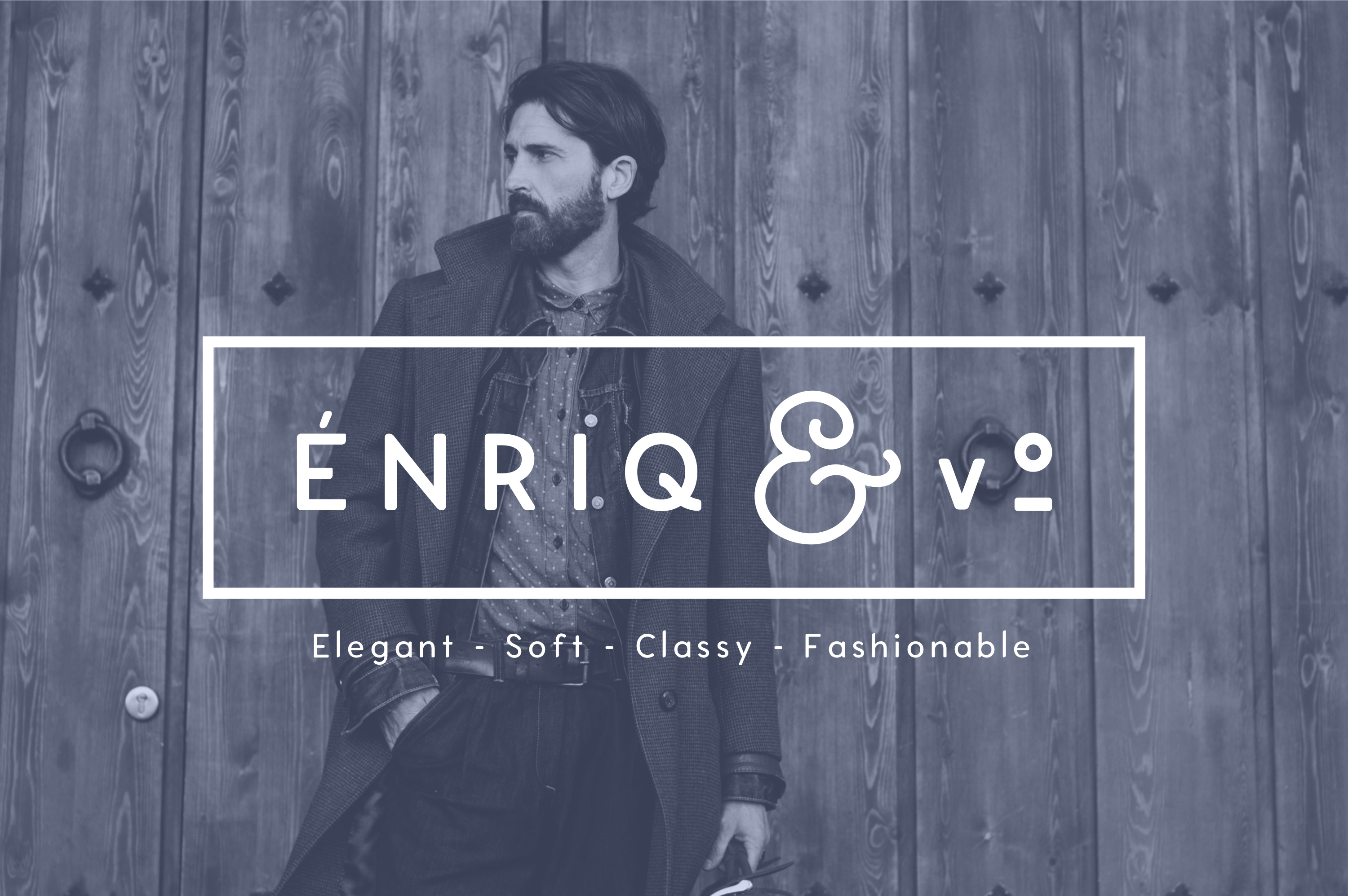 Enrique - 8 Fonts Fashionable Elegant Sans Serif Font example image 1