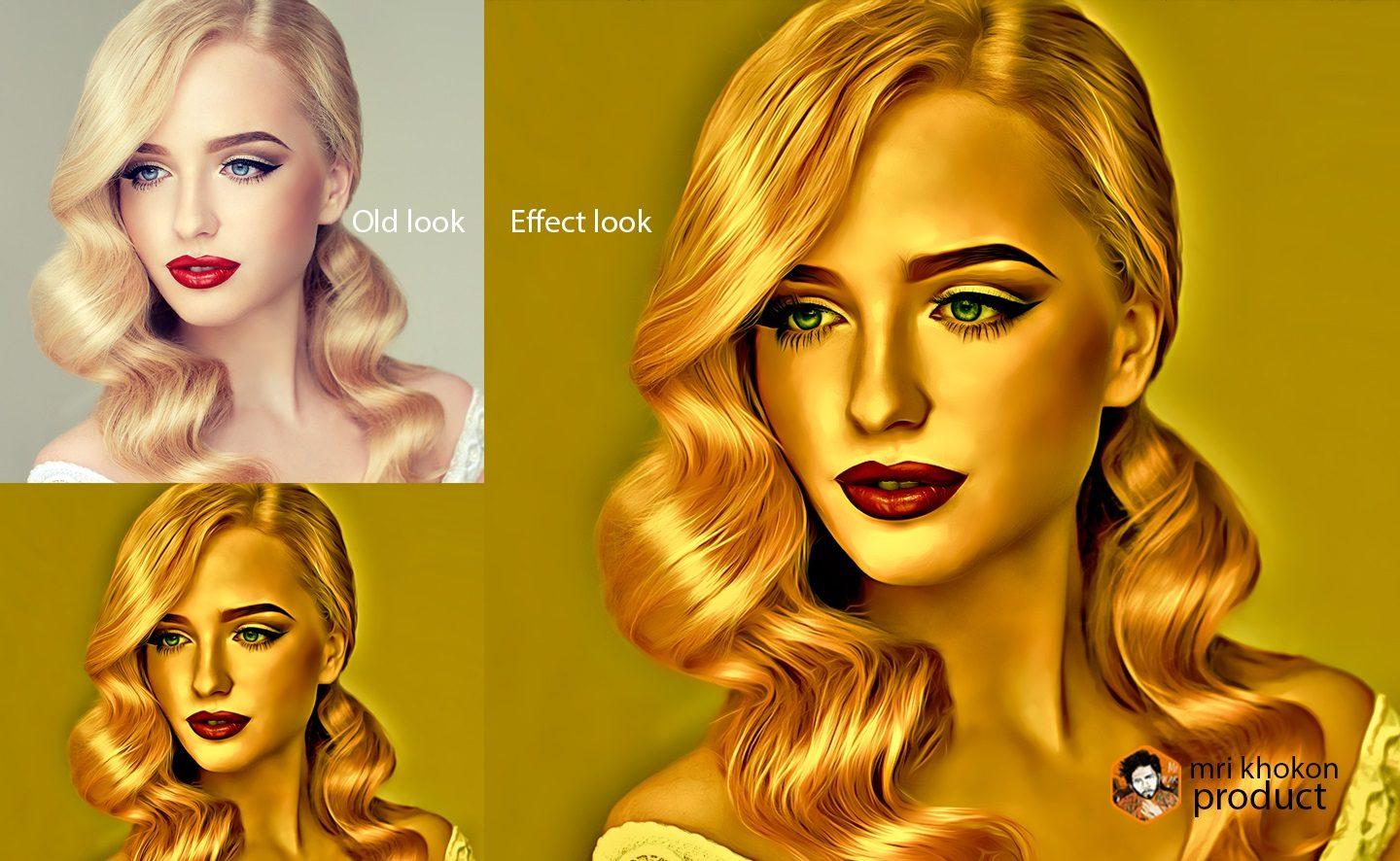 Gold Look Photoshop Effect example image 6