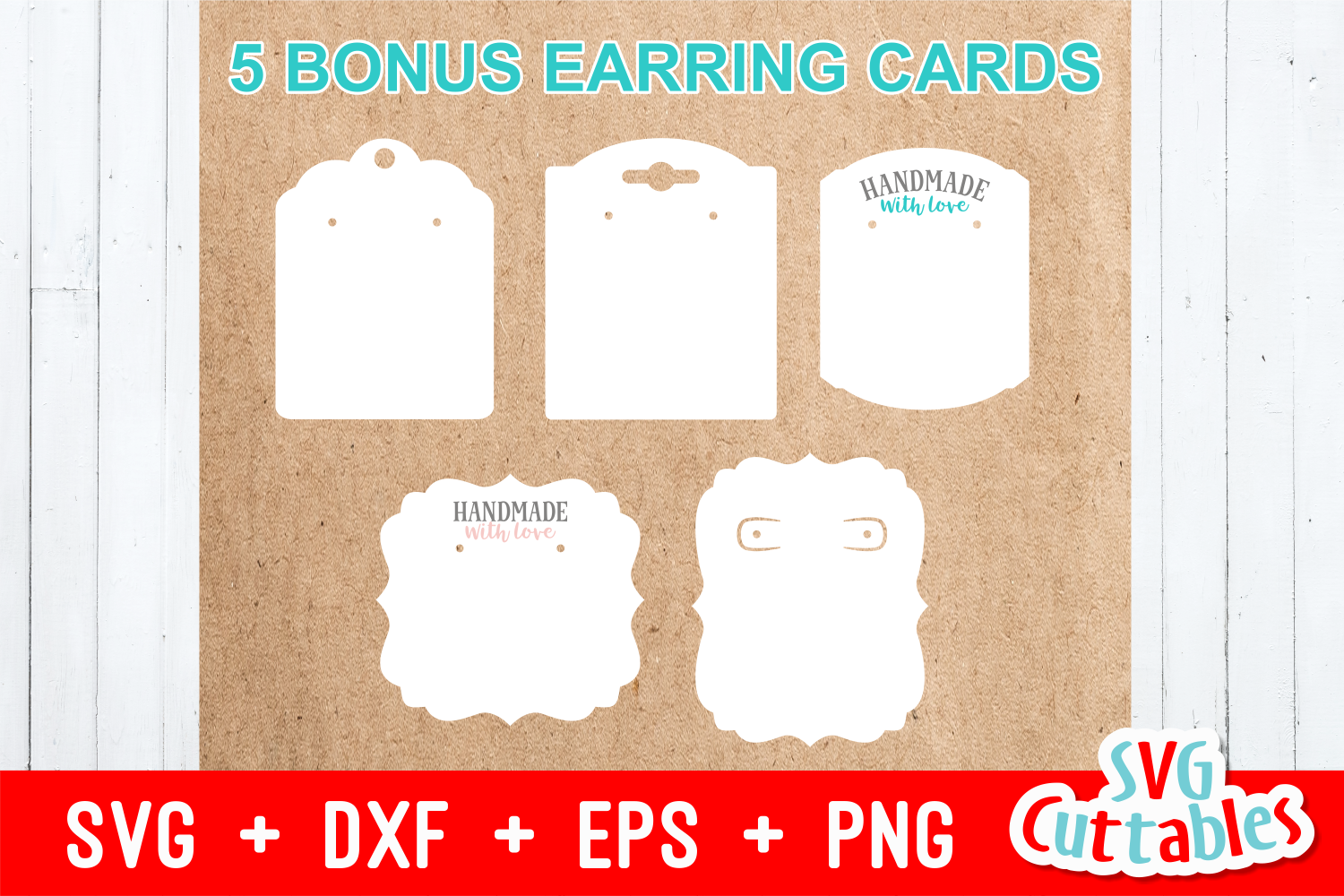 Earring Bundle | SVG Cut Files example image 6