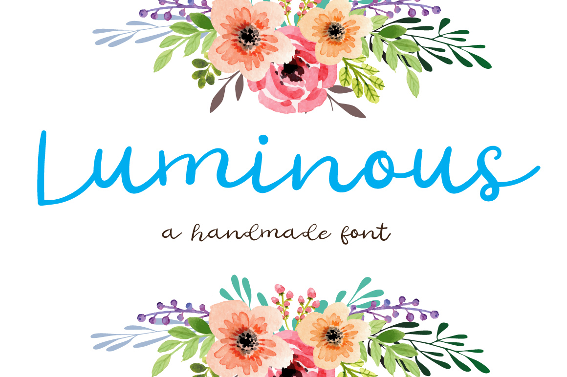 Luminous - A handmade cool and elegant font example image 1