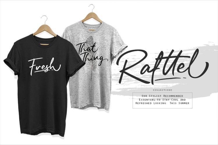 Rafttel Script Font example image 5