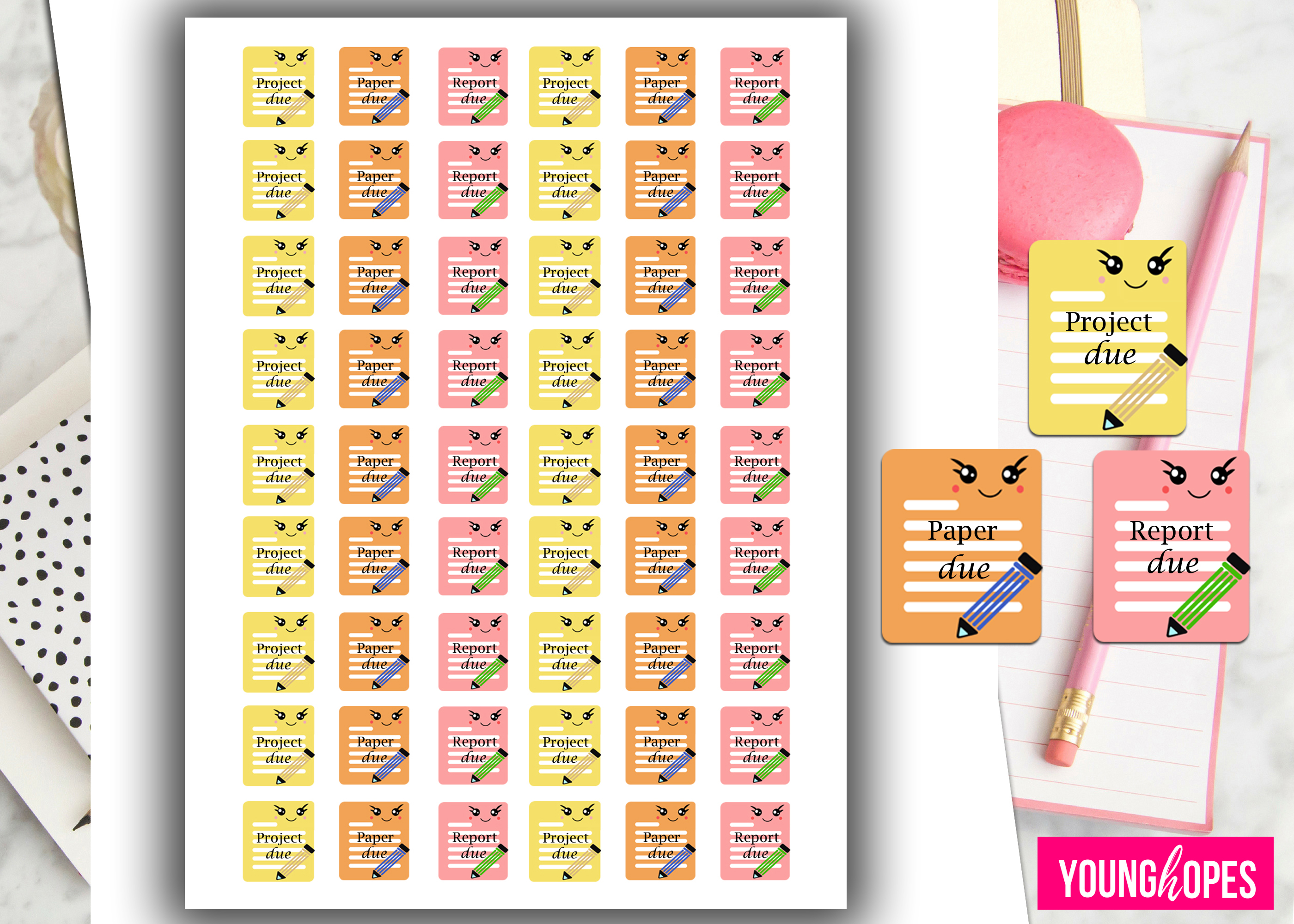 Student Planner Stickers example image 2