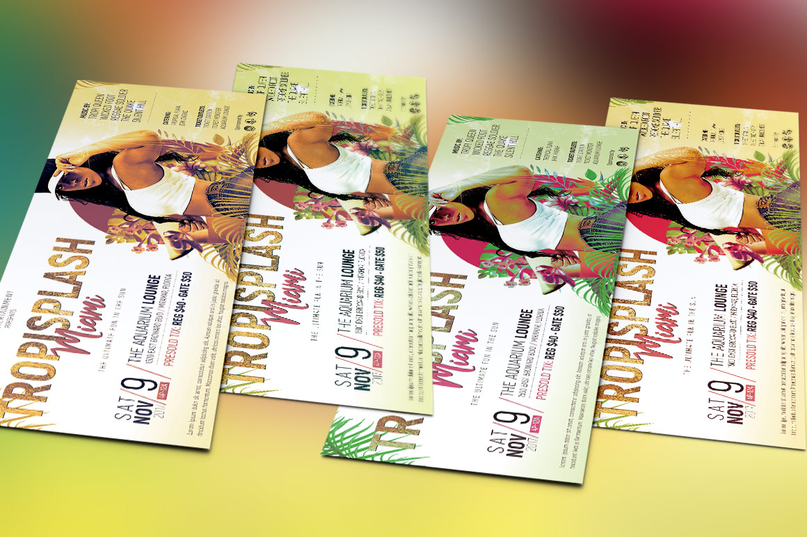 Tropical Party Flyer Template example image 5