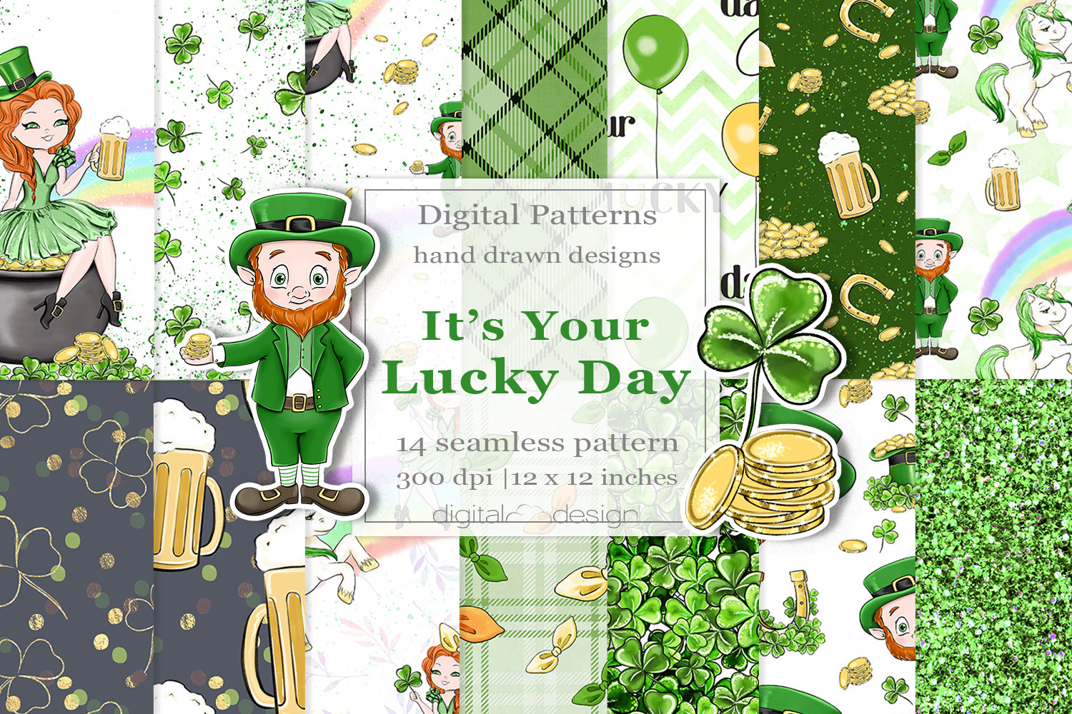 Its Your Lucky Day - Digital Pattern example image 1