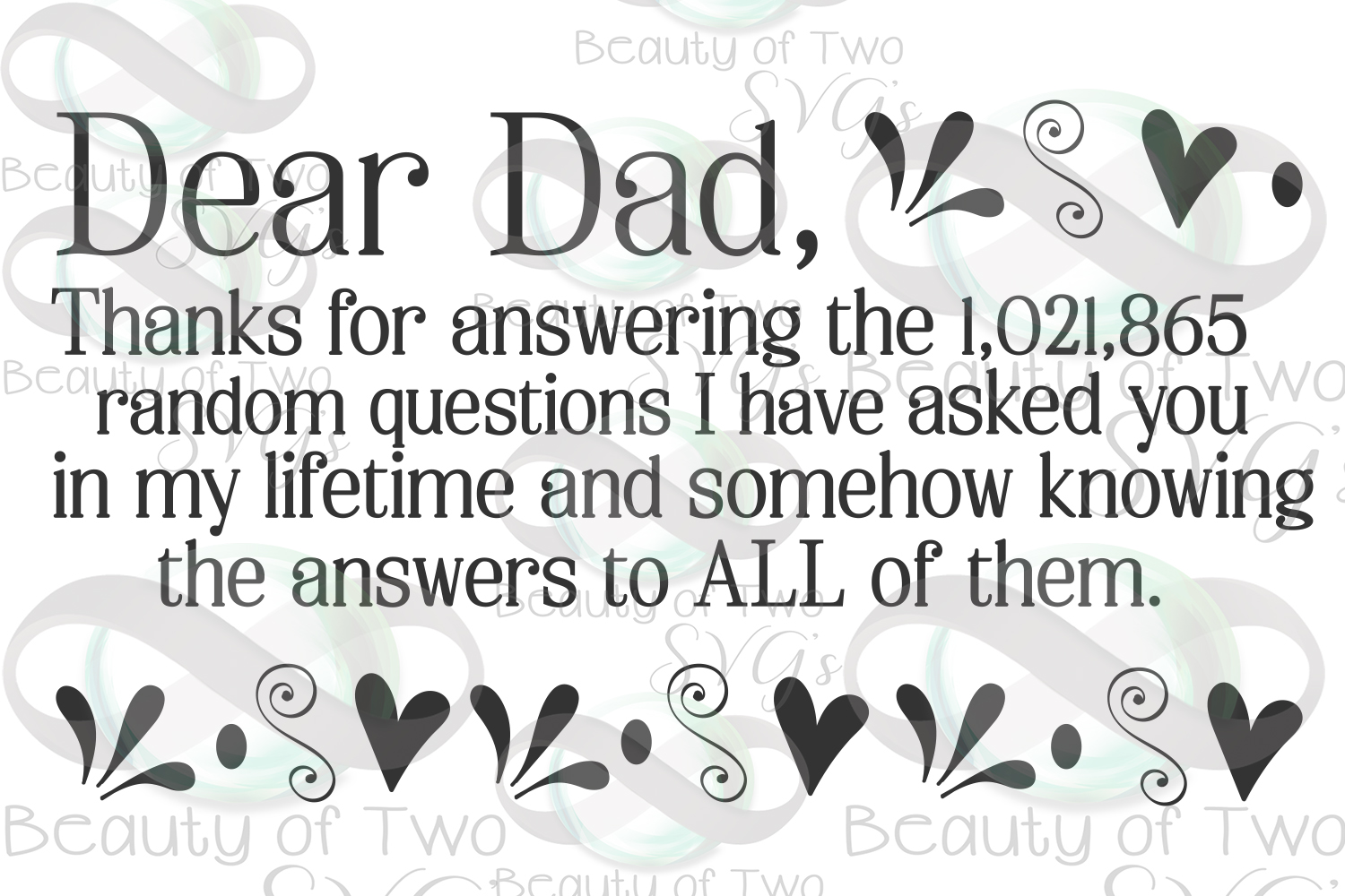 Fathers Day svg & png, Dear Dad svg, Dad love svg, example image 3