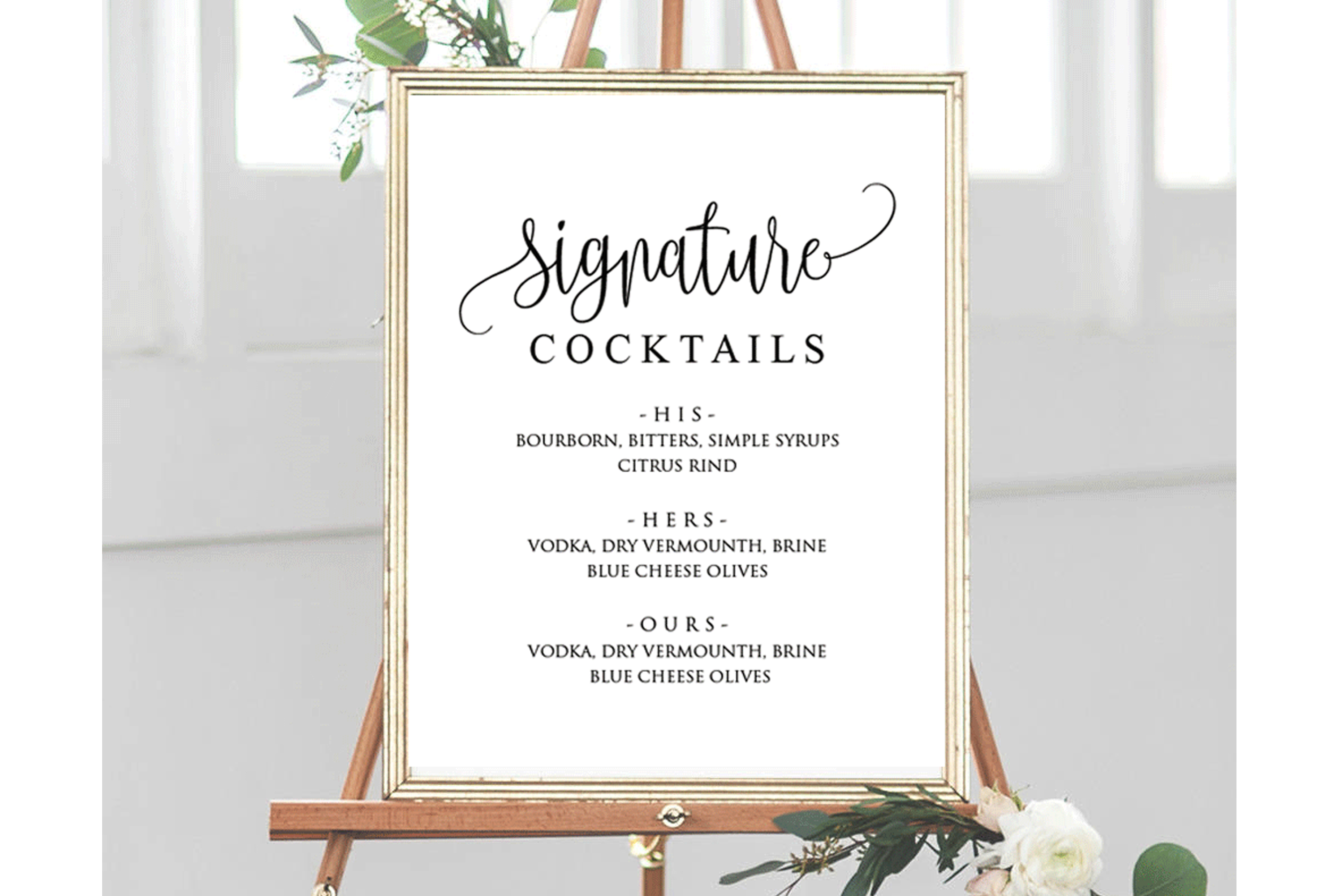 Signature Cocktail Sign Wedding example image 2