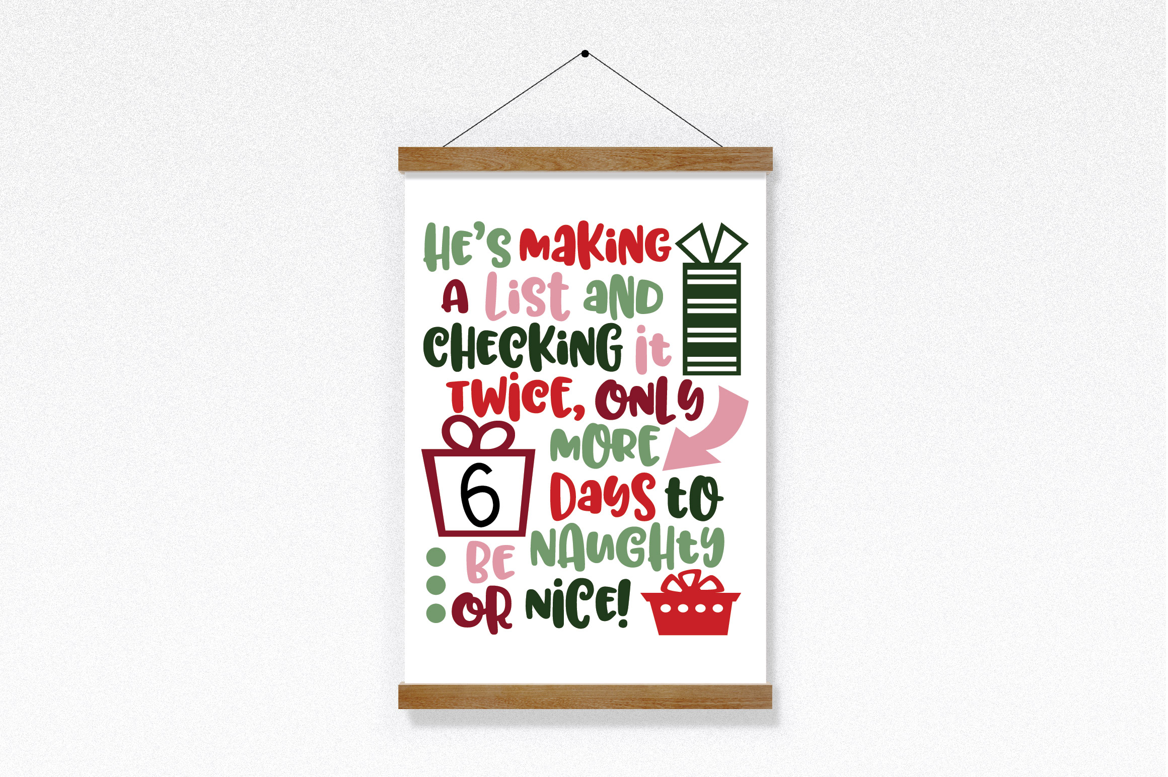 Christmas SVG Bundle with 10 Christmas Countdown Cut Files example image 3