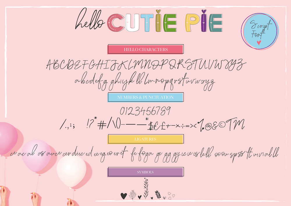Hello Cutie Pie Font Collection example image 10