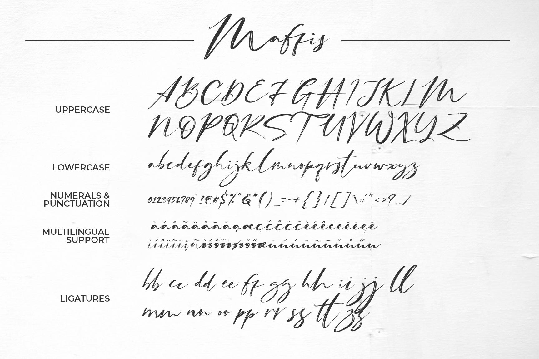 Maffis Handwritten Font example image 8