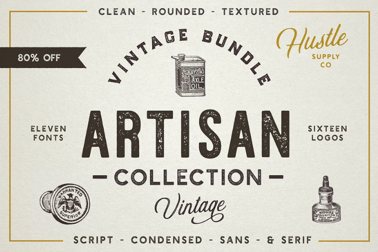 The Artisan Collection - Font Bundle example image 1