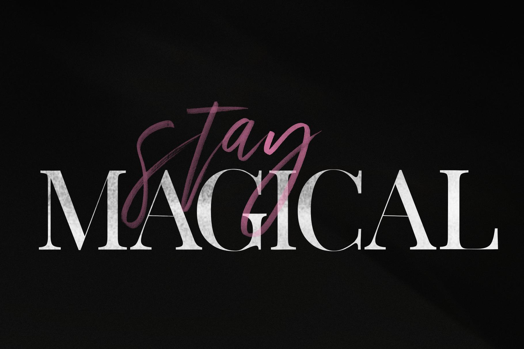 Magic Winter - A Serif/Script Handwritten Font Duo example image 7