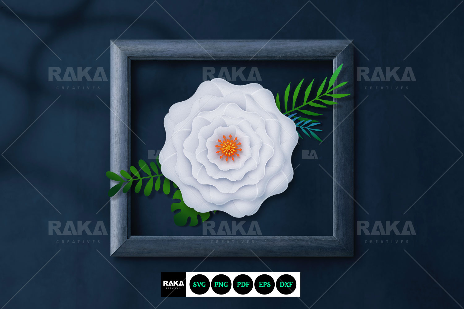 20 Paper Flower SVG | Paper Flower Template | Large Paper example image 2