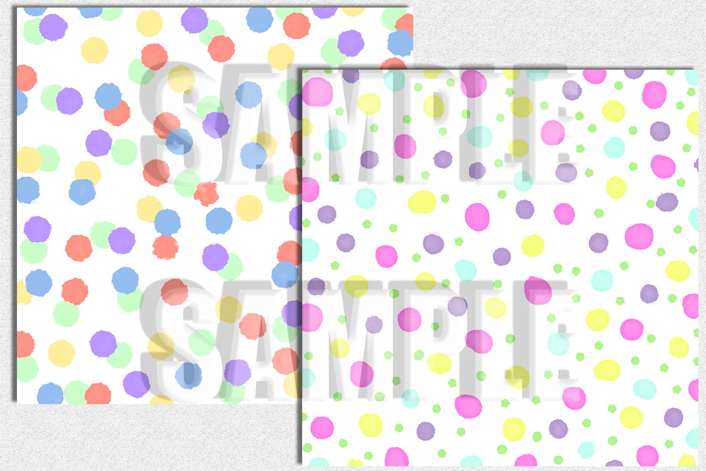 Confetti Digital Paper, Pastel Color, Digital Background example image 2