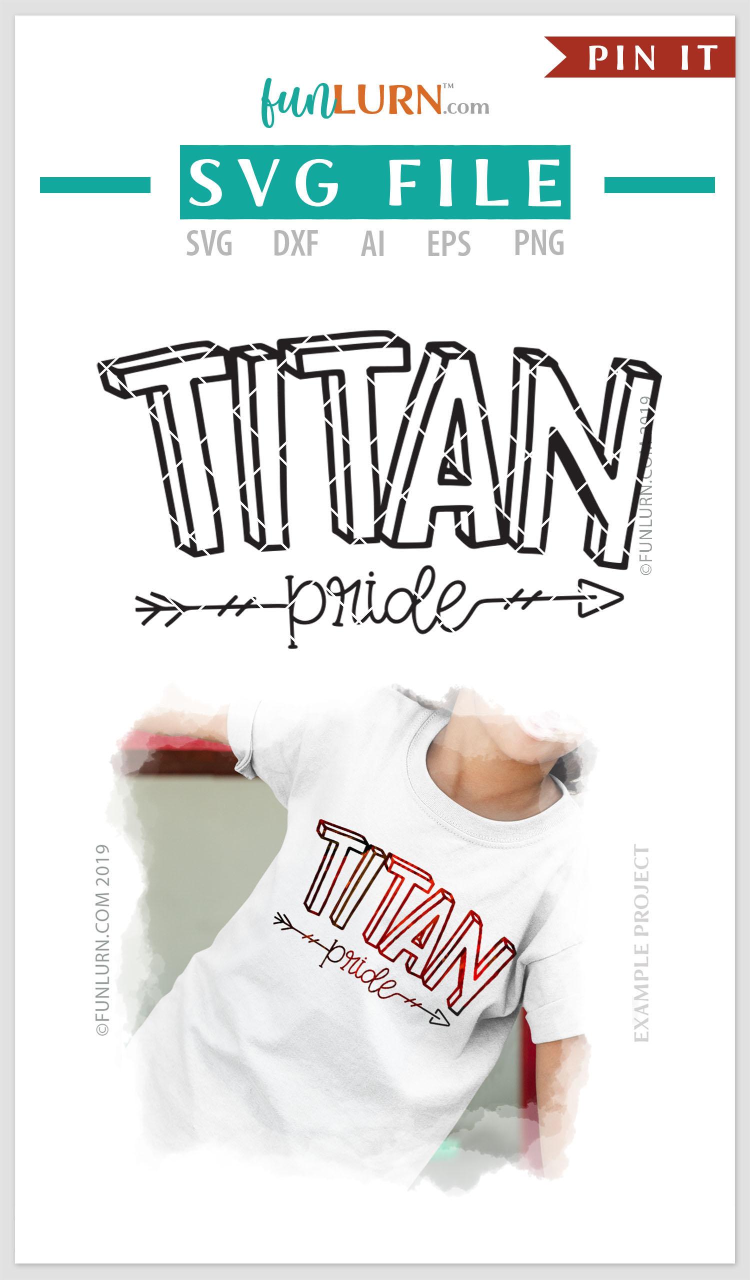 Titan Pride Team SVG Cut File example image 4