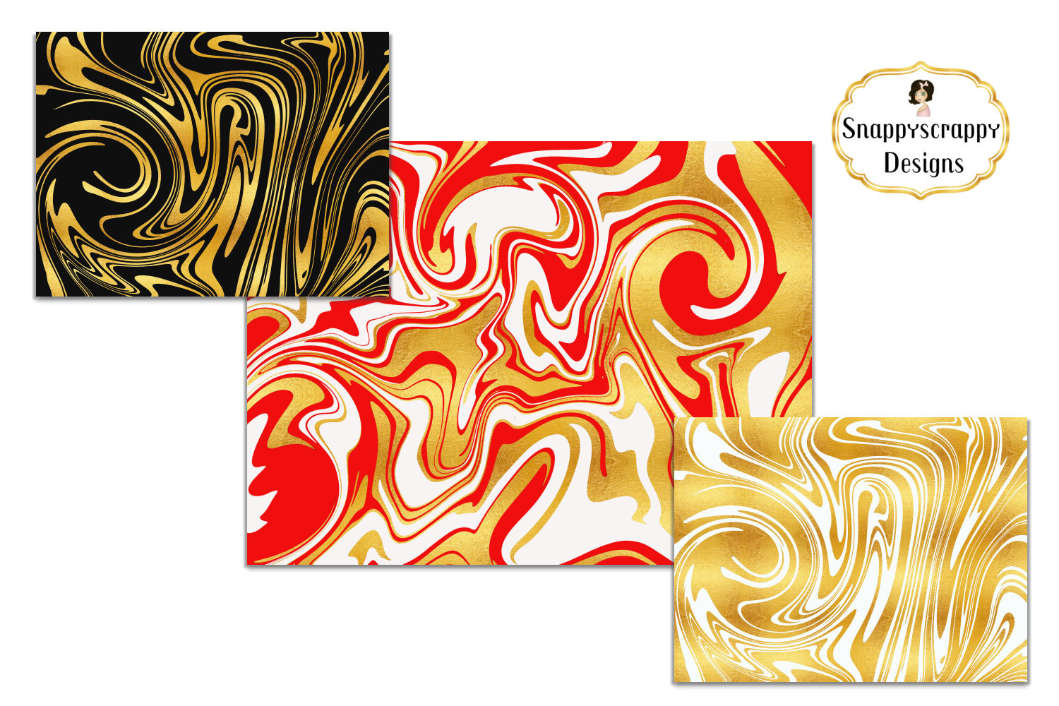 Marble Background Papers example image 3