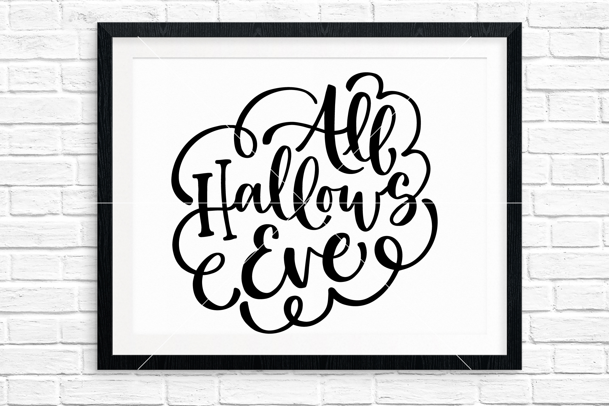 Halloween Hand Lettered Cut Files Bundle, SVG DXF EPS PNG example image 2