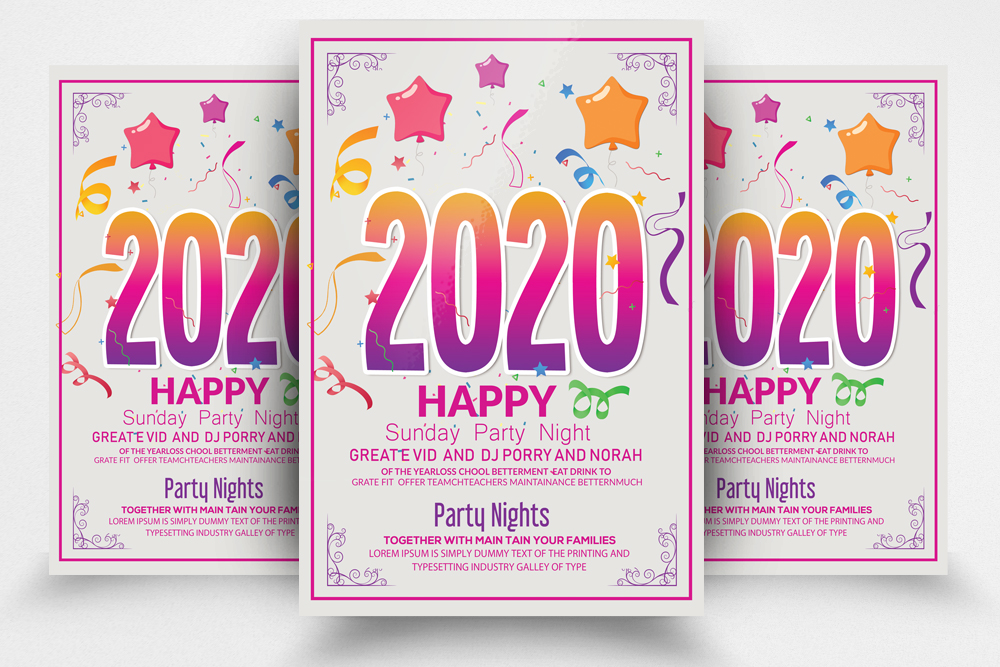 New Year Party Night Flyer/Poster example image 1