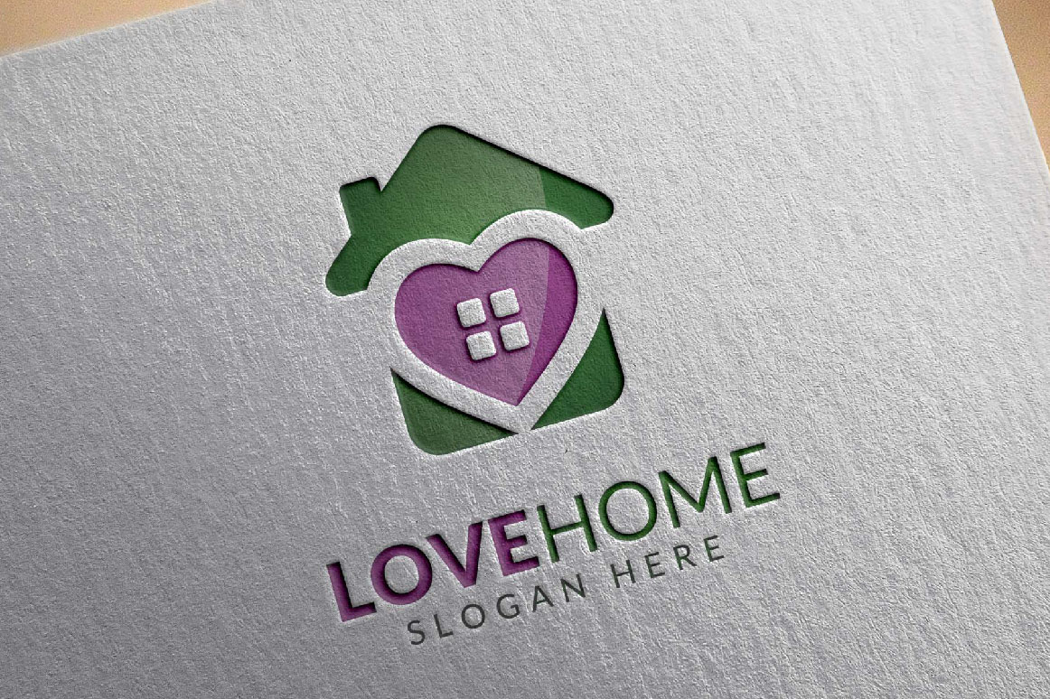 Love home logo, real estate logo example image 3