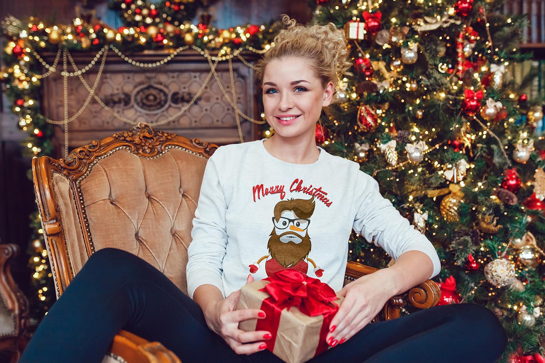 Christmas Sweatshirt Mock-Up example image 8