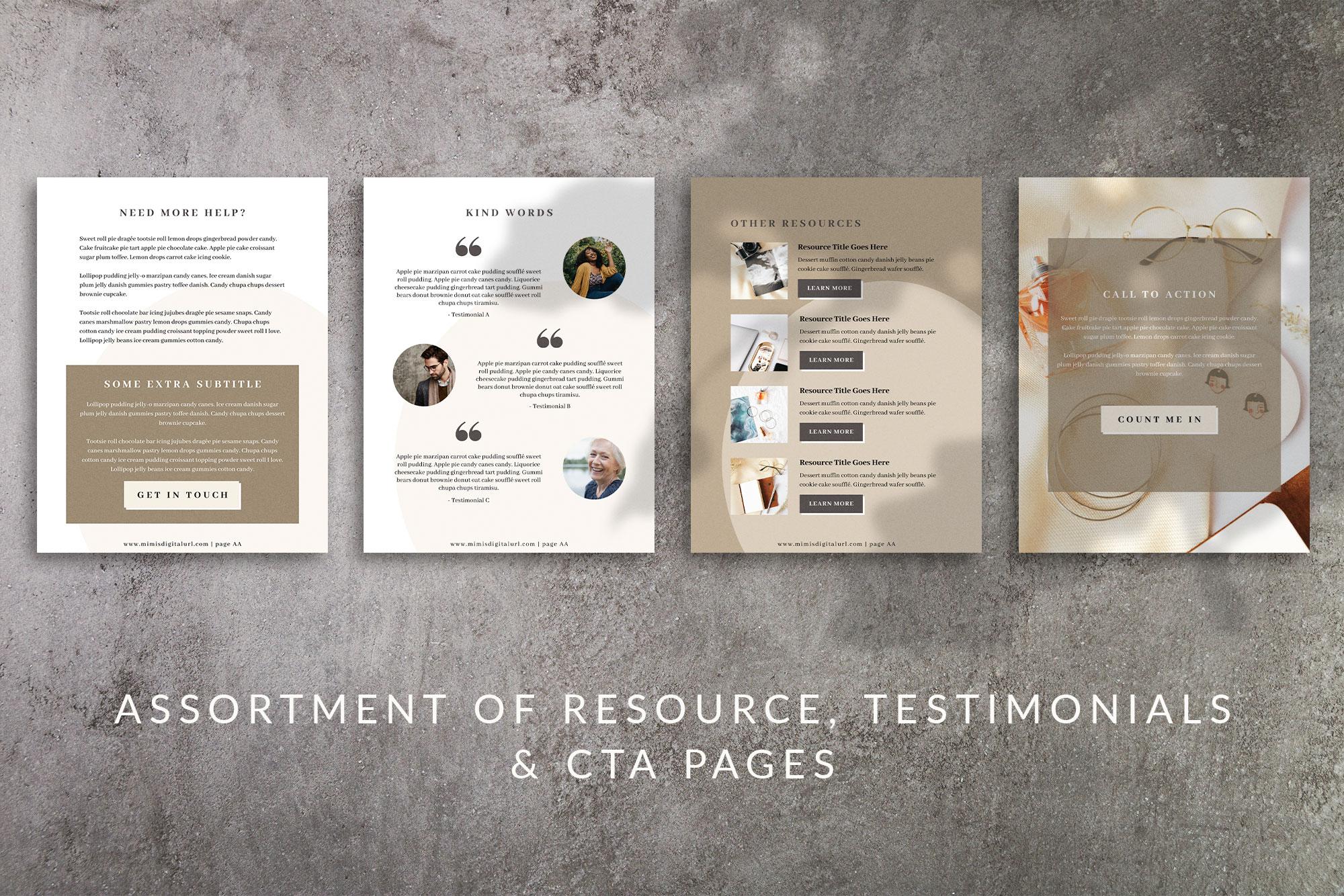 Workbook Canva Template | Mink example image 8