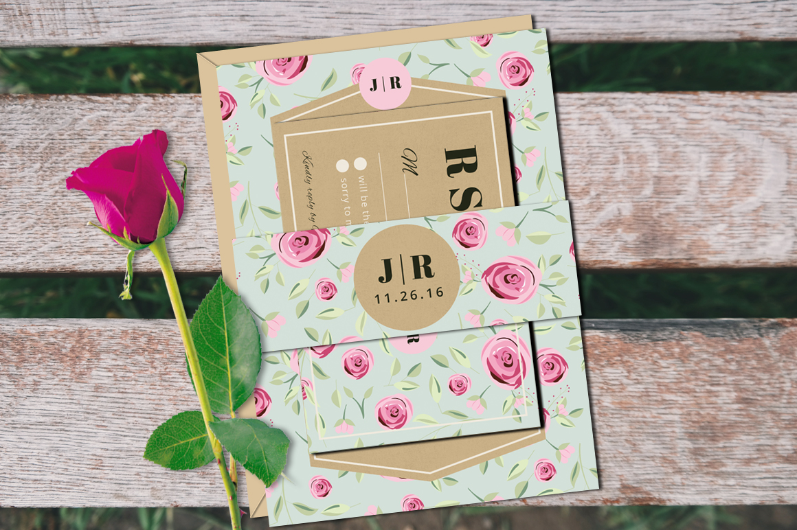 Vintage Wedding Invitation Suite example image 2