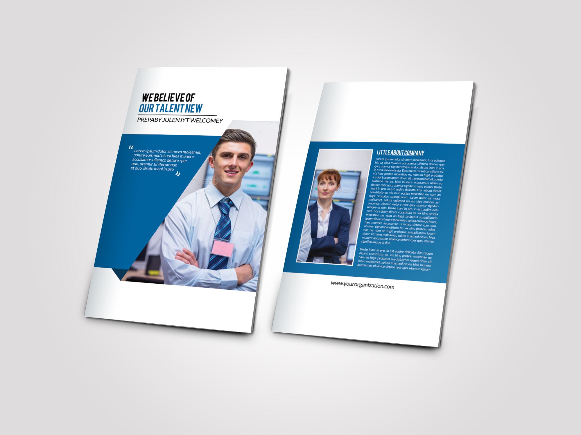 Business Corporate Bifold Brochure example image 4