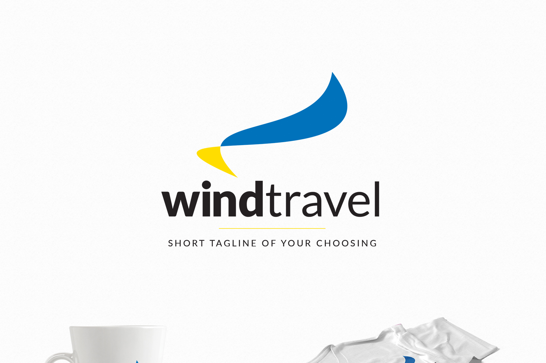 Wind Travel - a Travel Agency Logo example image 2