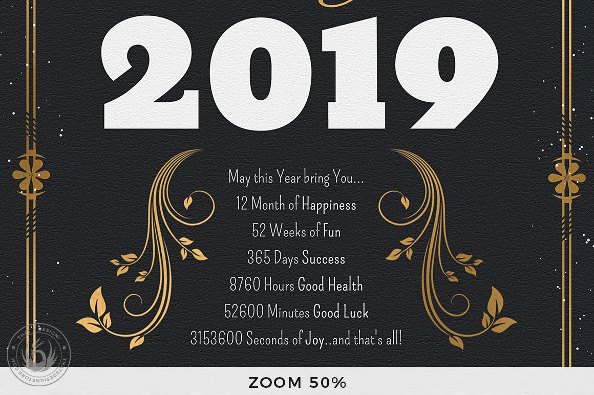 New Year Menu Template V1 example image 9