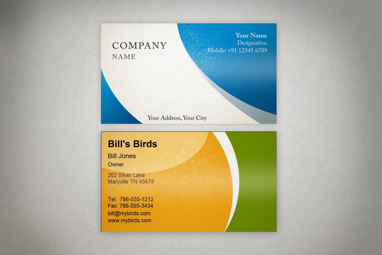 Photorealistic business card mockup set example image 7