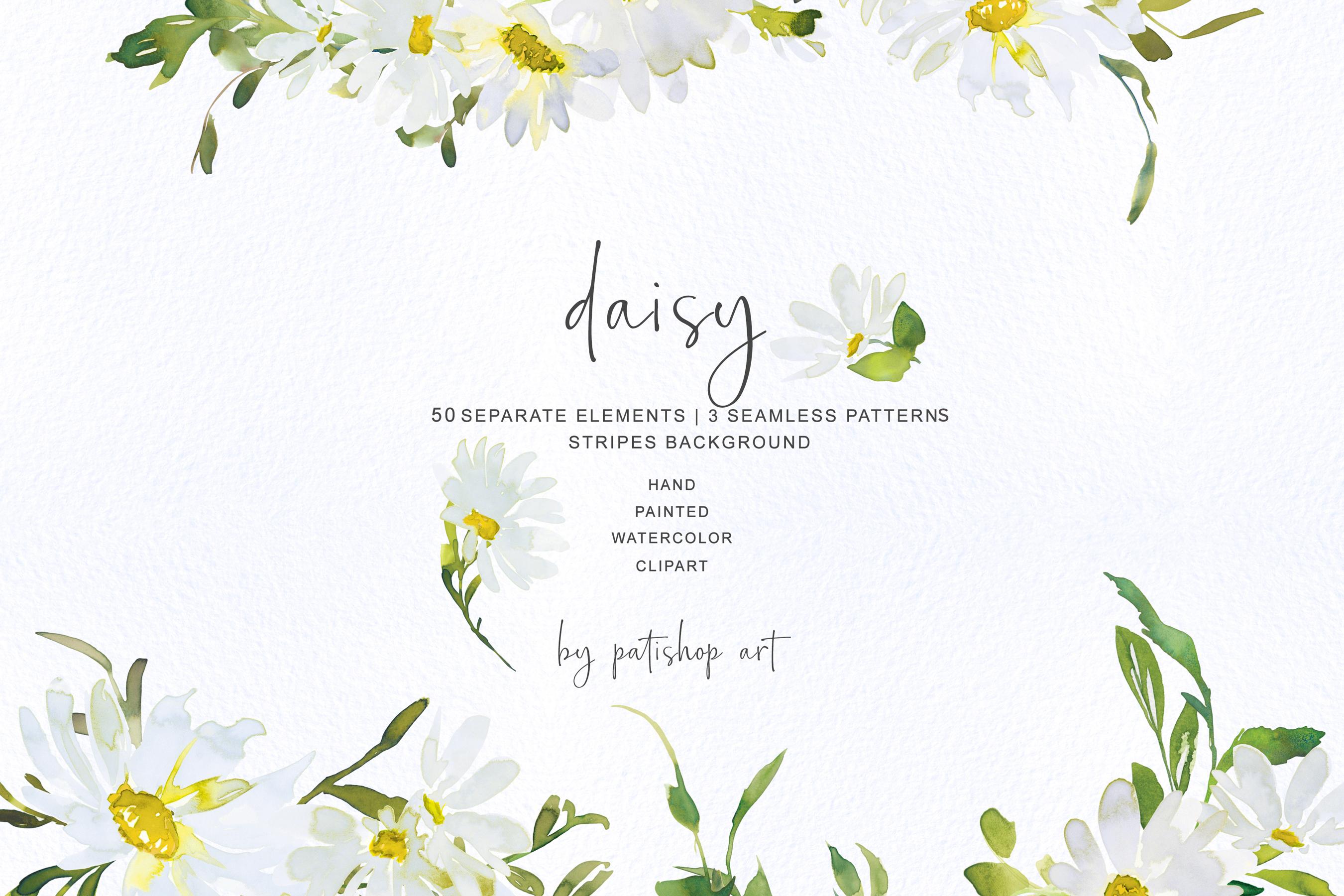 Watercolor Daisy Clip Art example image 3