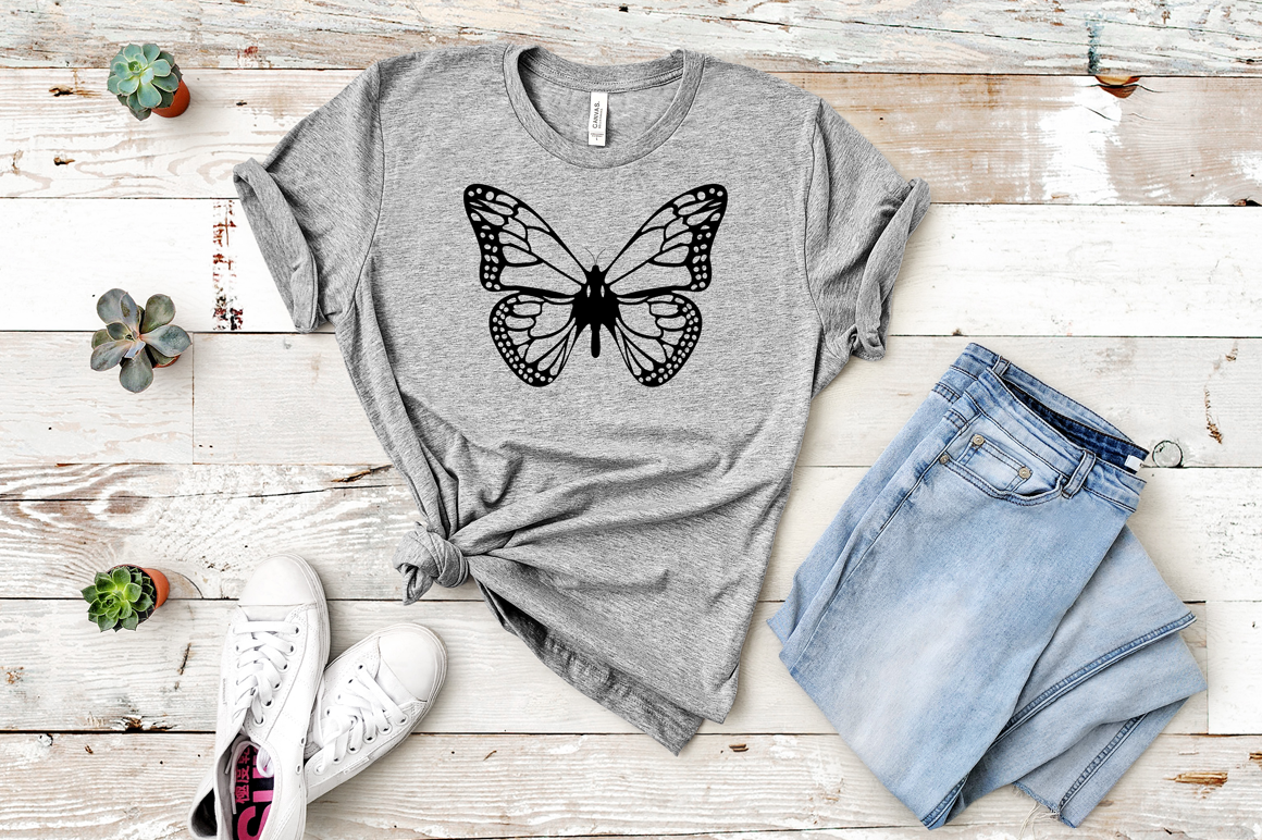 Butterfly SVG, Butterfly Monogram SVG Cut Files Bundle example image 5