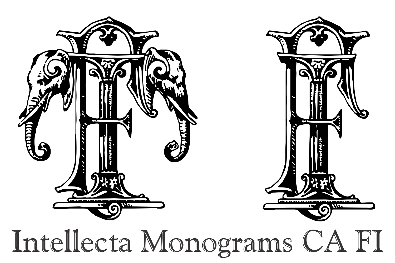 Intellecta Monograms CA FI example image 6