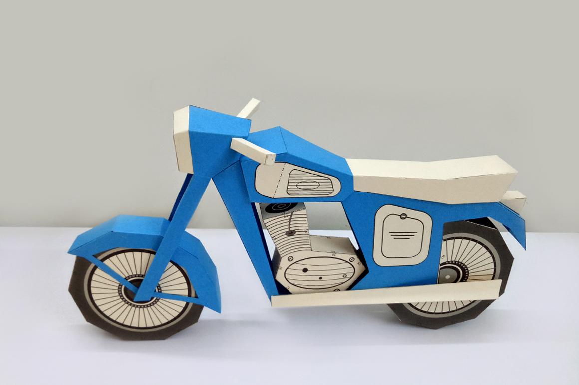DIY Vintage bike - 3d papercraft example image 3
