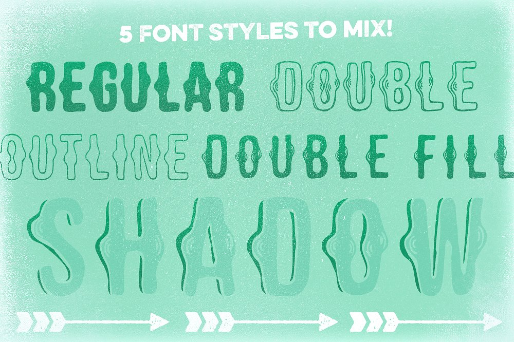 Shaken Font 5 Styles [30% off!] example image 2
