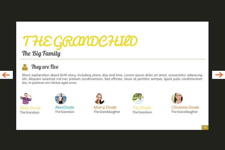 The Biography Presentation Templates example image 10
