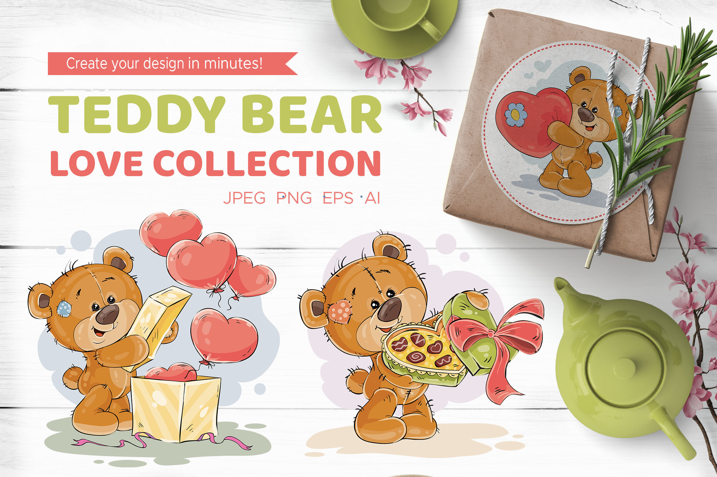 Teddy bear. Love collection.   example image 1