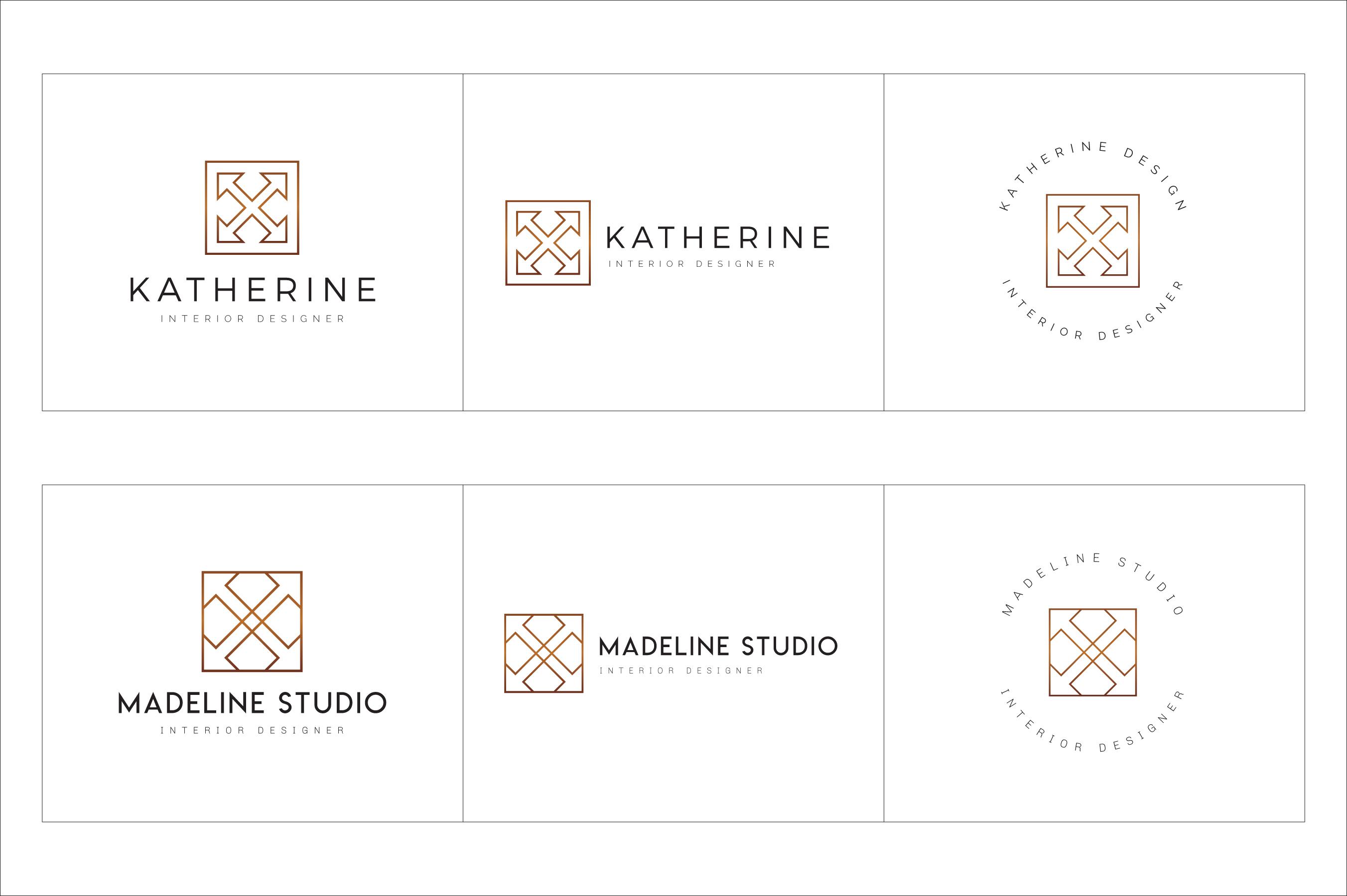 300 Geometric Premade Logo Bundle example image 15