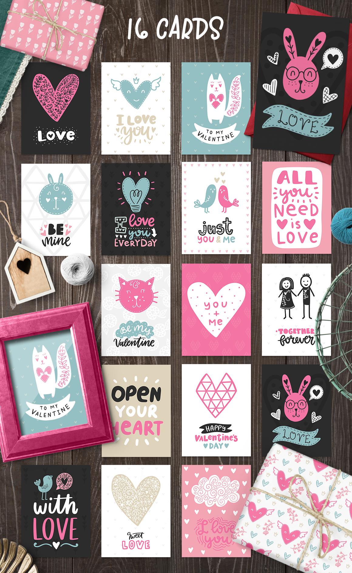 Hello Valentine's Day - Clipart Set! example image 6