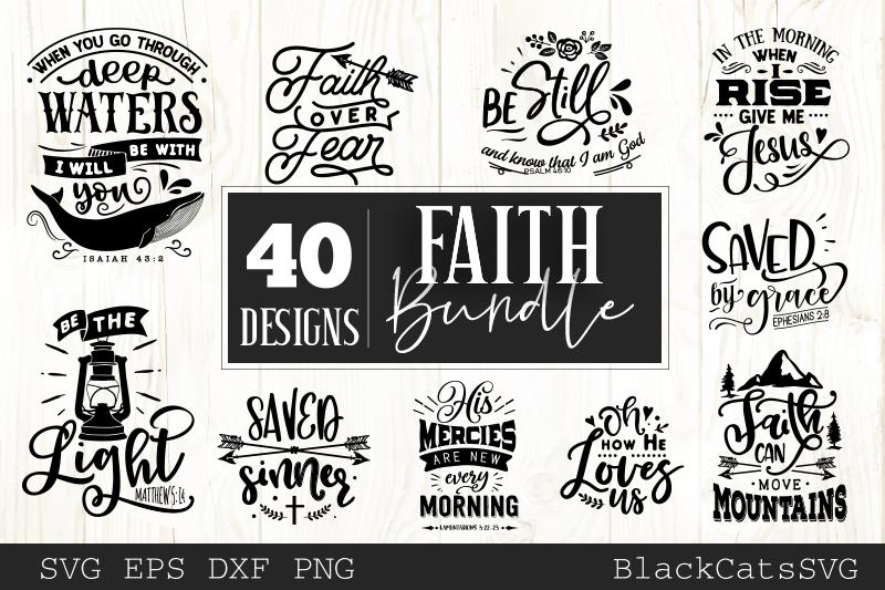 Faith SVG bundle 40 designs Christian SVG bundle example image 5